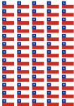Chile Flag Stickers - 65 per sheet